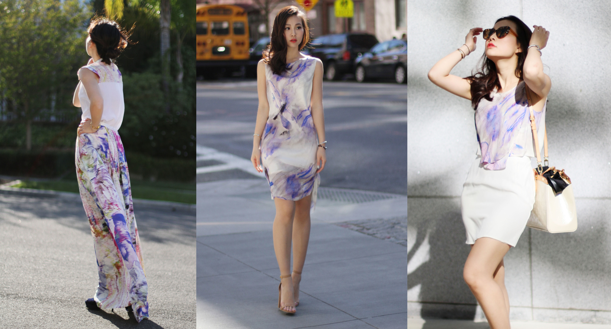 Silk is a good choice for warmer calendar months; it is natural, breathable and looks gorgeous.  Here are tricks to find a piece that you could wear for the whole array of occasions.