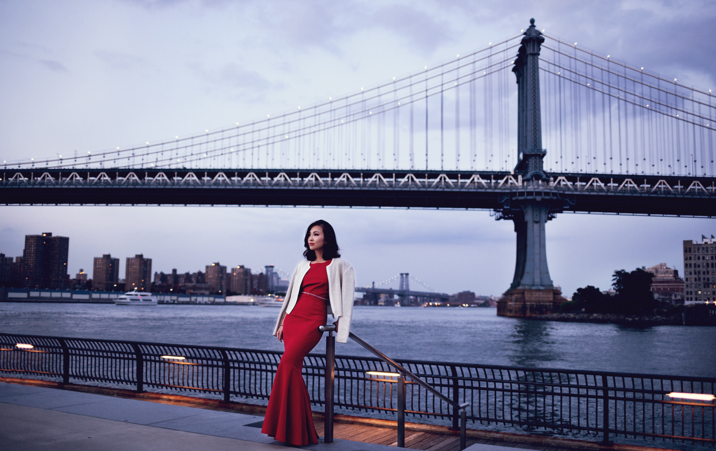 Zac Posen Red gown and leather jacket.jpg