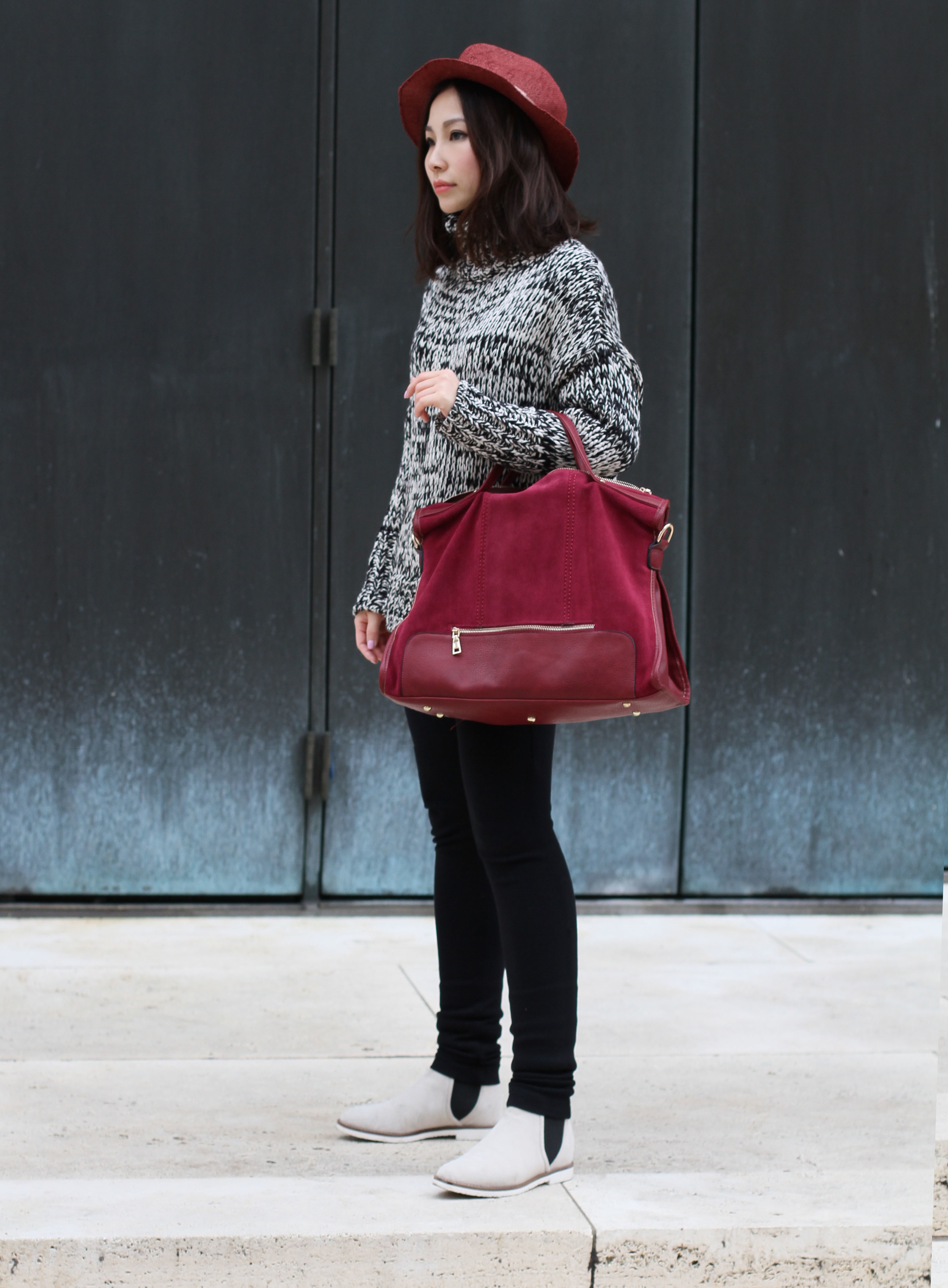 Red suede leather tote.jpg