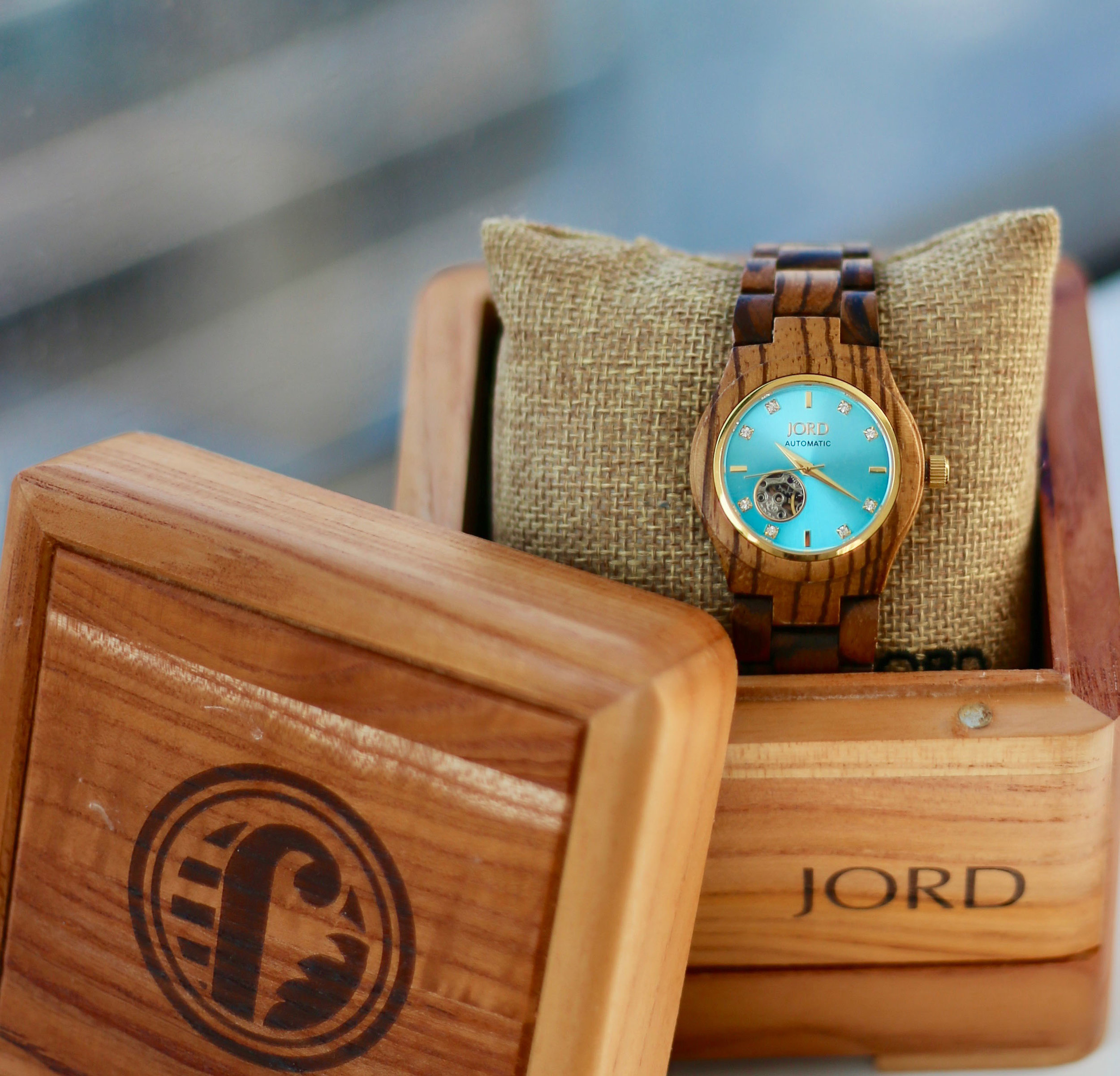 jorg cora zebrawood and turquois watch.jpg