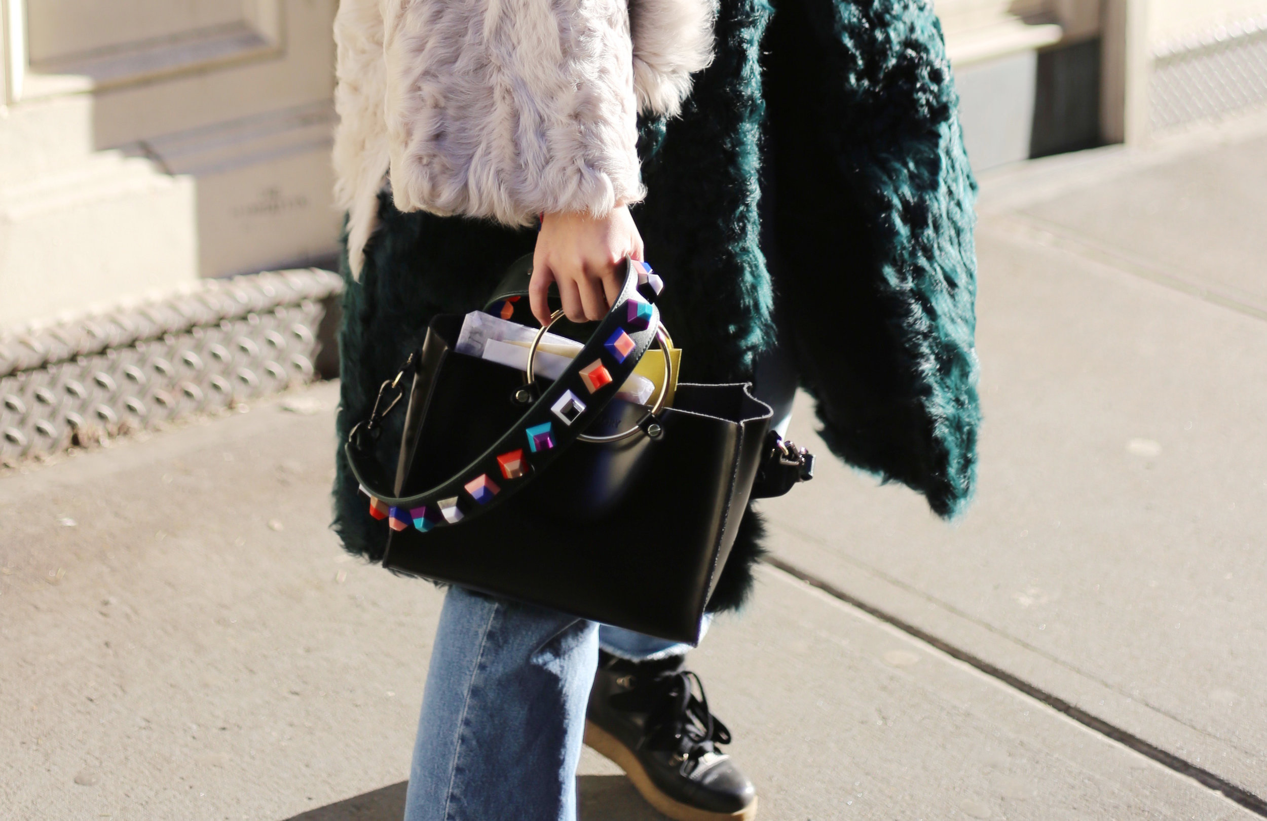 ms littles bag studded strap
