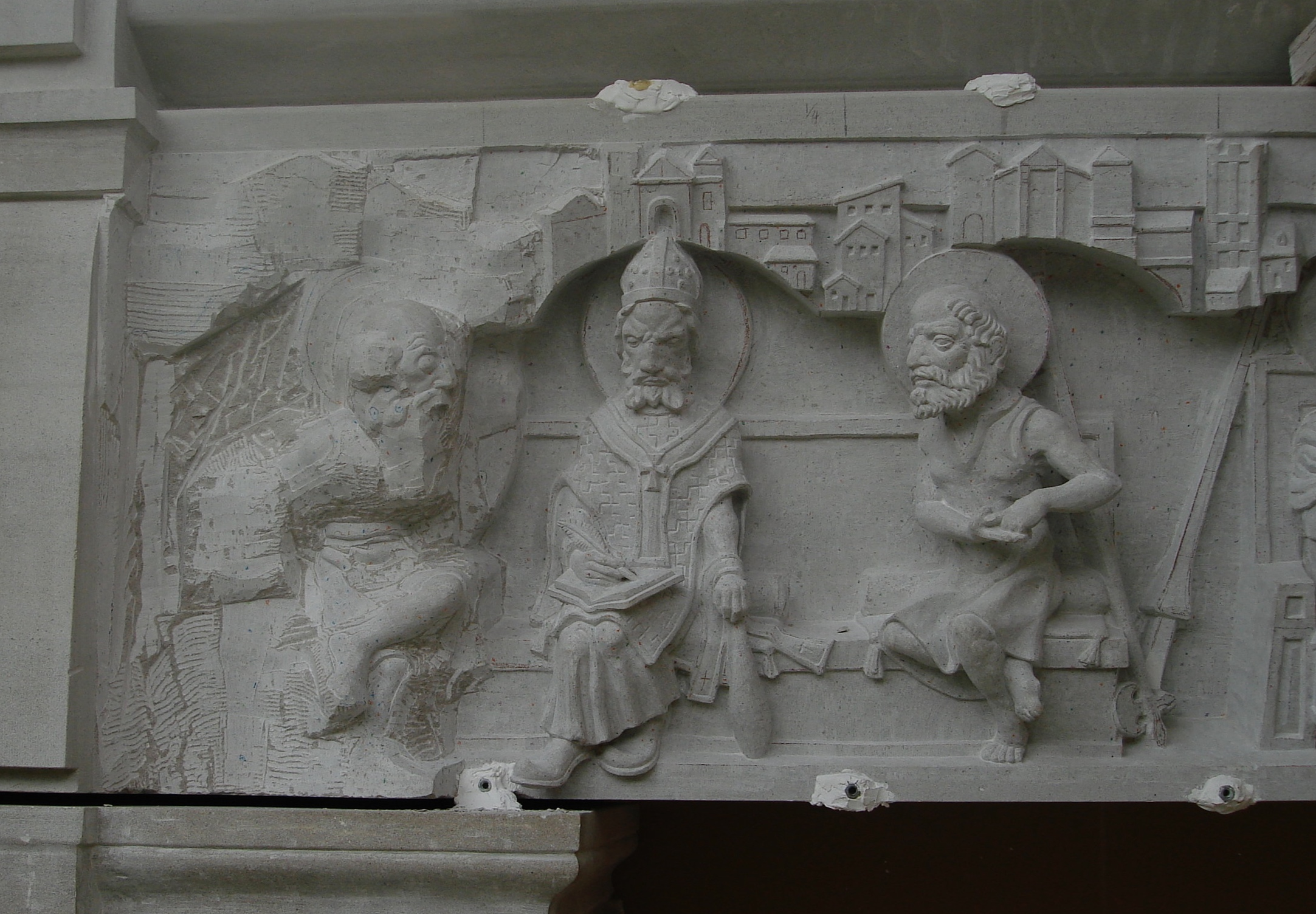 Stone - Stone carved statuary and funerary monuments are available by commission.The stone-work done at Clear Creek Abbey in Oklahoma is designed to last 1,000 years.