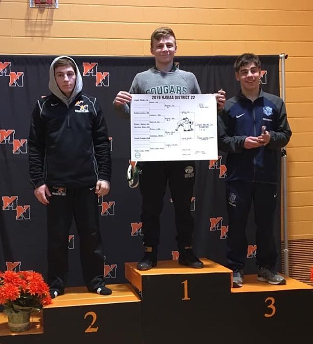 District 22 Champion 🏆 @logan3034  #elitewrestling #coltsneckhighschool #njwrestling #motiveslife