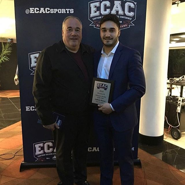 ECAC Defensive Rookie Player of the Year @anthonybassani @kufootball212  #manalapannj #manalapanfootball #keanfootball #motiveslife