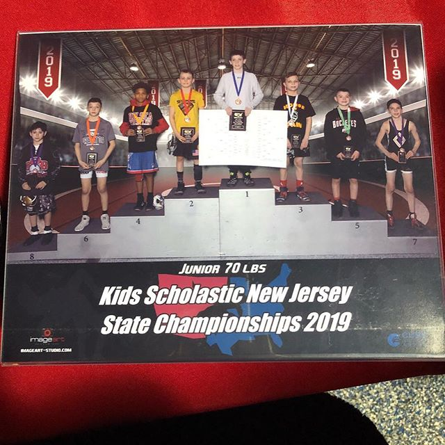 State Place winner @aj_falcone Earned every bit of this accomplishment 🏆  #Repost @jacquie_quinroxxy with @download_repost ・・・ No words can describe today.  Losing his first match of the day and wrestling back to 6th place in New Jersey States!  @aj_falcone  we are So proud!  Thank you to all of his coaches @vinniedellefave @matt_lindemann @coach_morello @elitewrestlingnj @iam_thedooski @dougie.ham @coachTed #elitewrestlingnj #howellpredatorswrestling #stateplacewinner