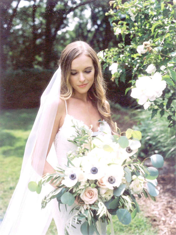instant film wedding photo