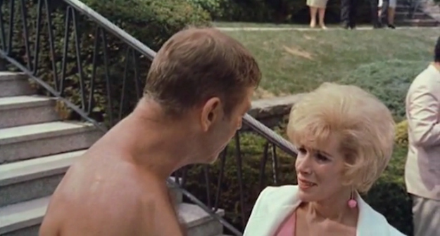 Burt Lancaster and Joan Rivers in 'The Swimmer'