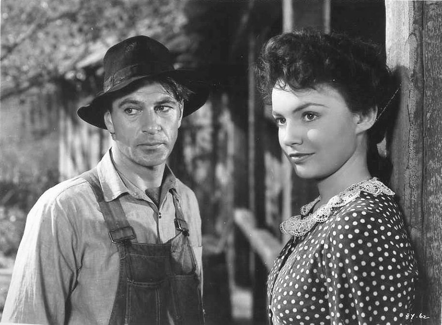 with Gary Cooper in Sergeant York (1941)