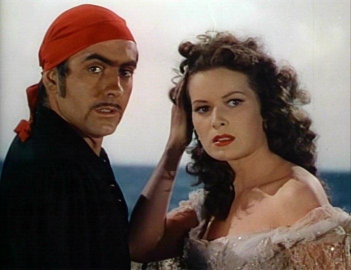 with Tyrone Power in The Black Swan (1942)
