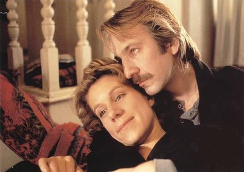 with Juliet Stevenson in Truly Madly Deeply (1990)