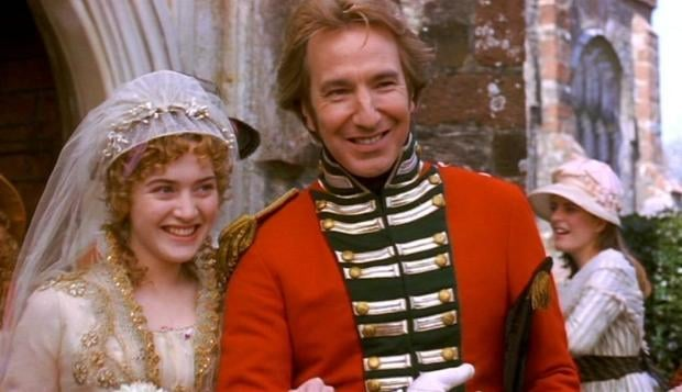 with Kate Winslet in Sense and Sensibility (1995)