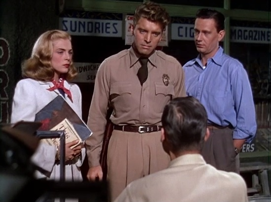 (Standing Left to Right) Lizabeth Scott, Burt Lancaster, Wendell Corey