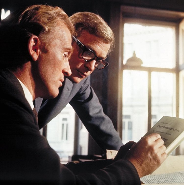 (From left) Gordon Jackson, Michael Caine