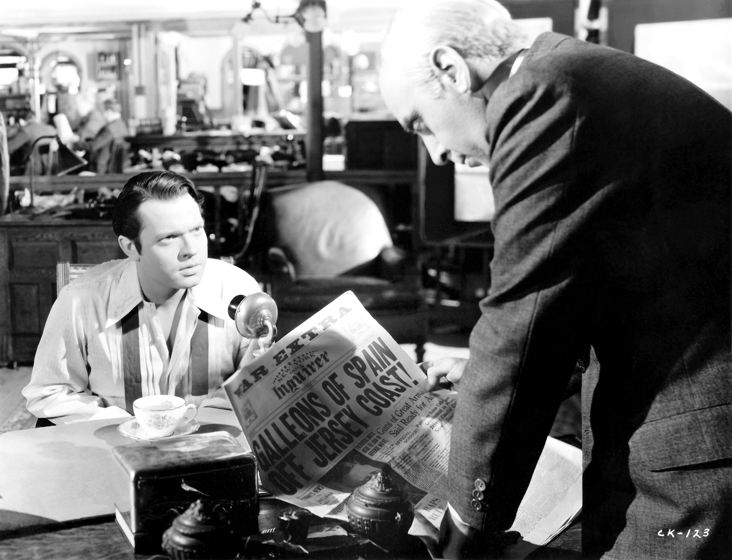 (From left) Orson Welles, George Coulouris