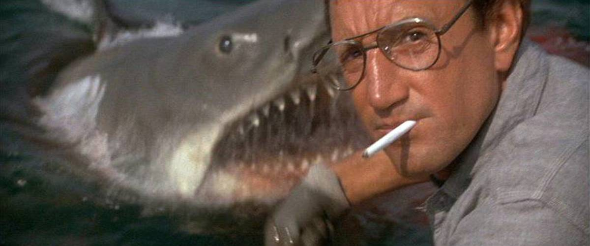 "(From left) ""Bruce"", Roy Scheider"
