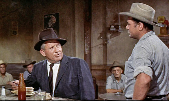 (In foreground from left) Spencer Tracy, Ernest Borgnine
