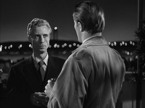 (From left) Ken Niles, Robert Mitchum