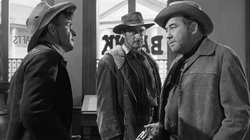 (From left) Noah Beery Jr., John Dehner, Broderick Crawford