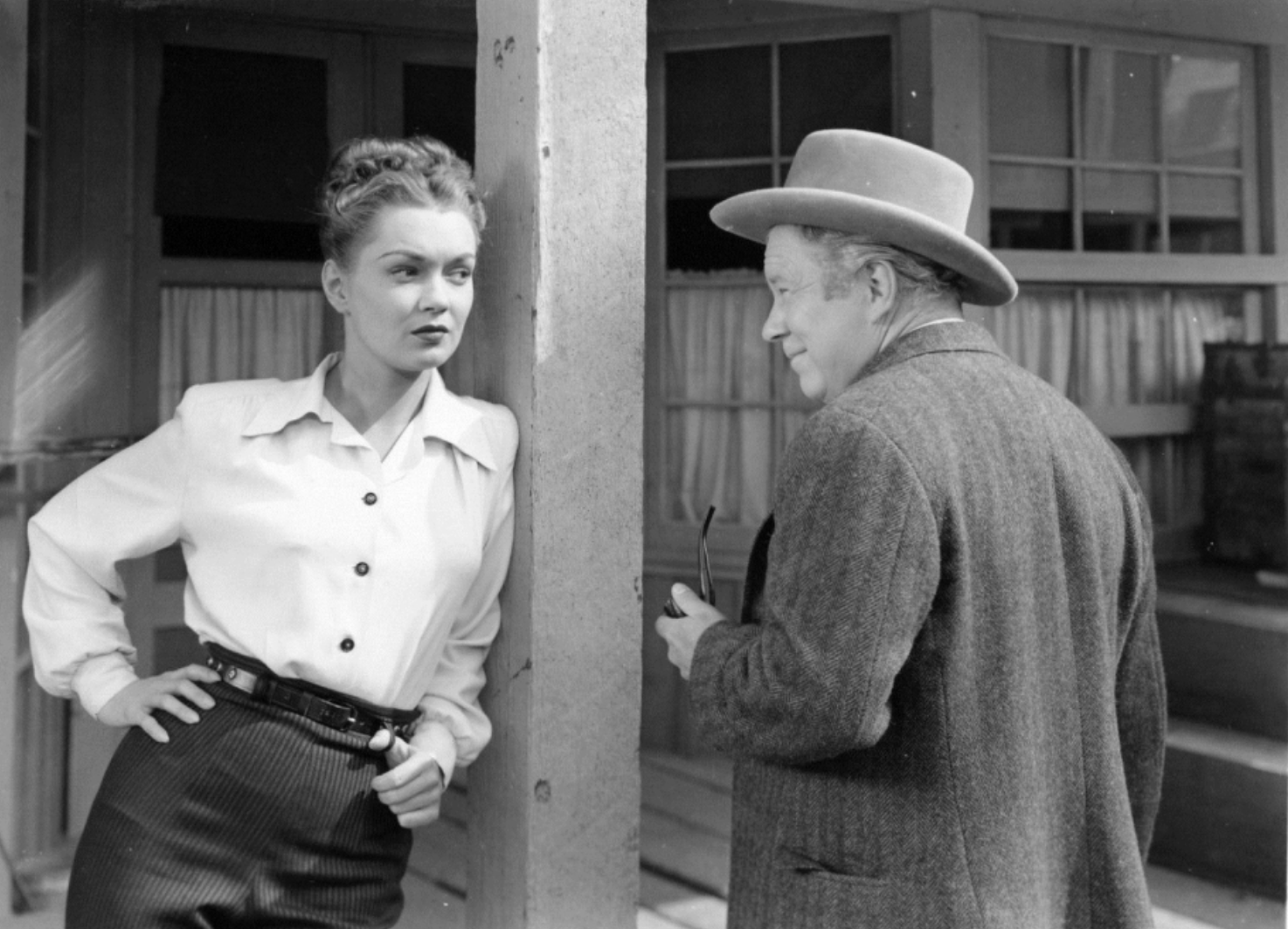 Gloria Henry as Jeannie Manning with Edgar Buchanan as Dr. H. C. Henderson in  Adventures in Silverado