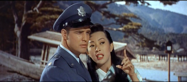 Miiko Taka as Hana-Ogi with Marlon Brando as Major Lloyd 'Ace' Gruver in  Sayonara