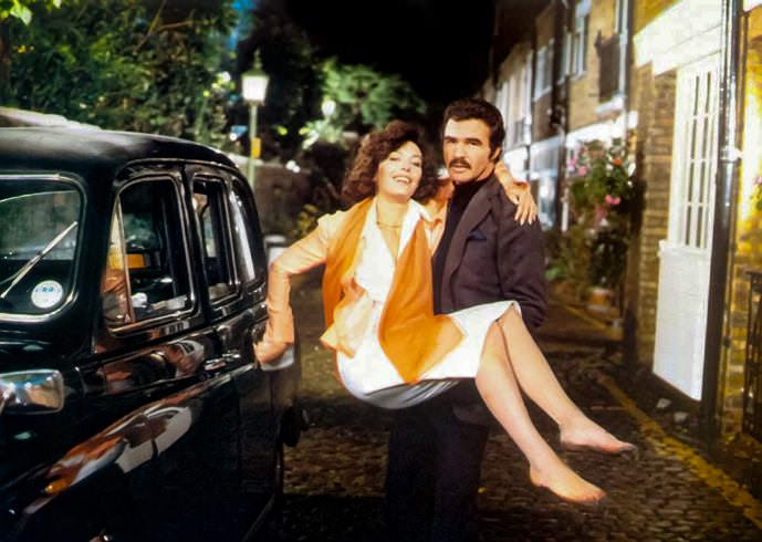 Lesley-Anne Down and Burt Reynolds in ROUGH CUT