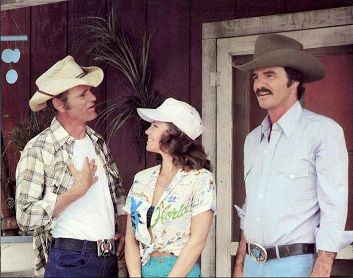 Jerry Reed, Sally Field, and Burt Reynolds in SMOKEY AND THE BANDIT II