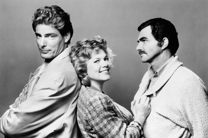 Christopher Reeve, Kathleen Turner, and Burt Reynolds in SWITCHING CHANNELS