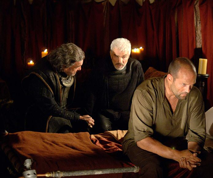 John Rhys-Davies, Burt Reynolds, and Jason Statham in IN THE NAME OF THE KING: A DUNGEON SIEGE TALE