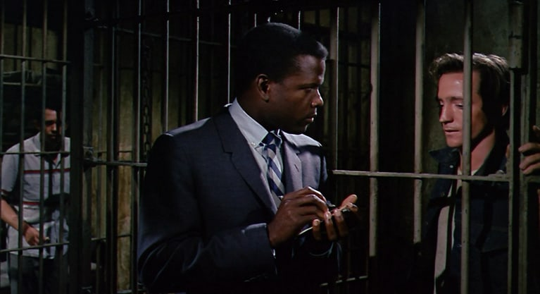 Scott Wilson with Sidney Poitier in In the Heat of the Night (1967)