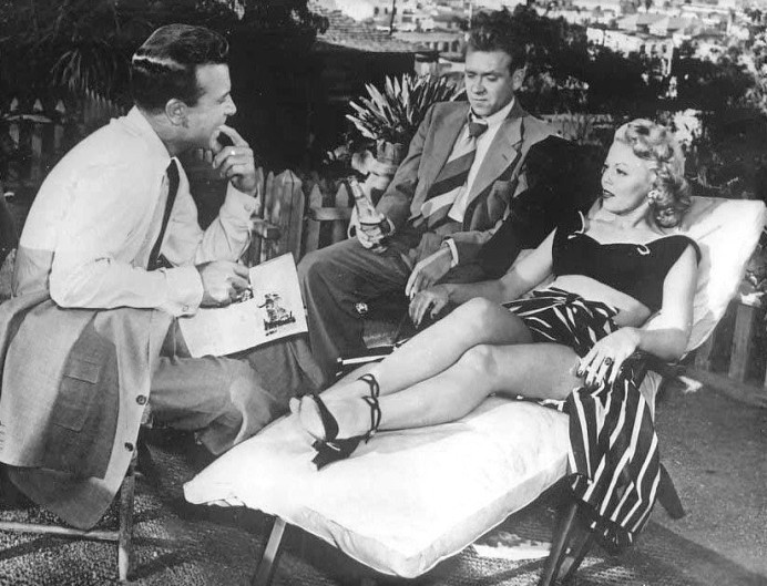 Dick Powell, Richard Erdman, and Jean Porter in CRY DANGER