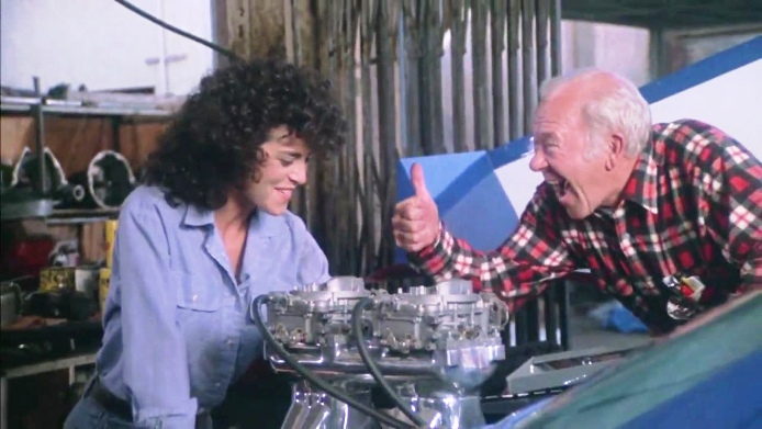 Betsy Russell and Richard Erdman in TOMBOY