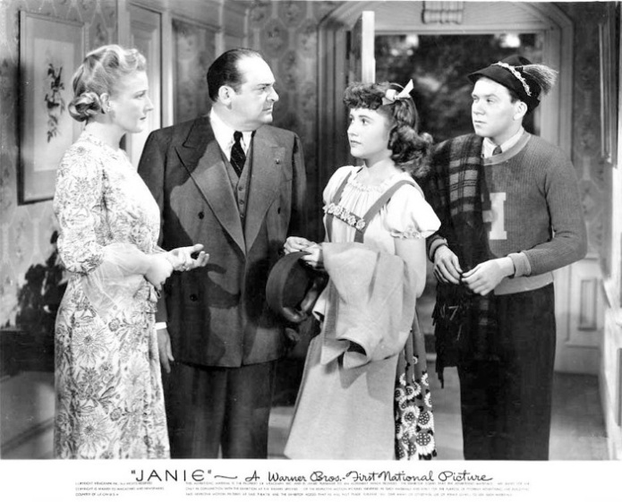 Ann Harding, Edward Arnold, Joyce Reynolds, and Richard Erdman in JANIE