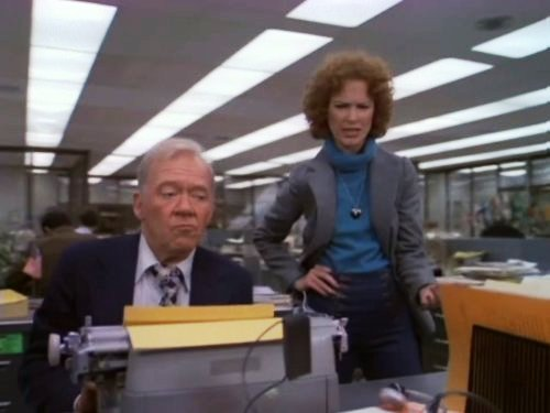 "Richard Erdman and Linda Kelsey in ""Lou Grant"""