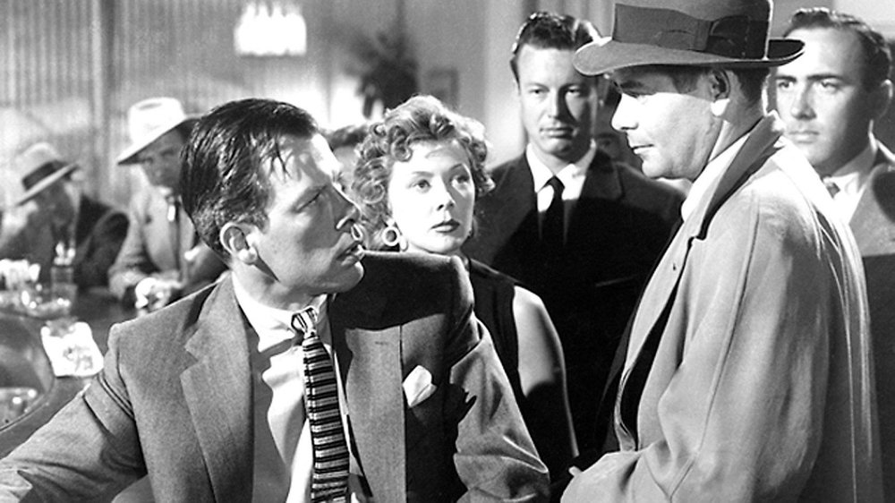 (In the forefront, left to right) Lee Marvin, Gloria Grahame, Glenn Ford