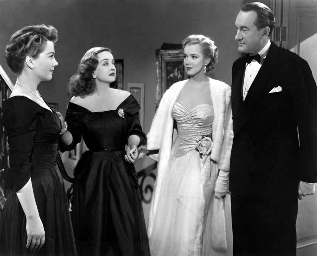 (From left) Anne Baxter, Bette Davis, Marilyn Monroe, George Sanders