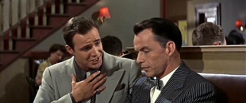(From left) Marlon Brando, Frank Sinatra