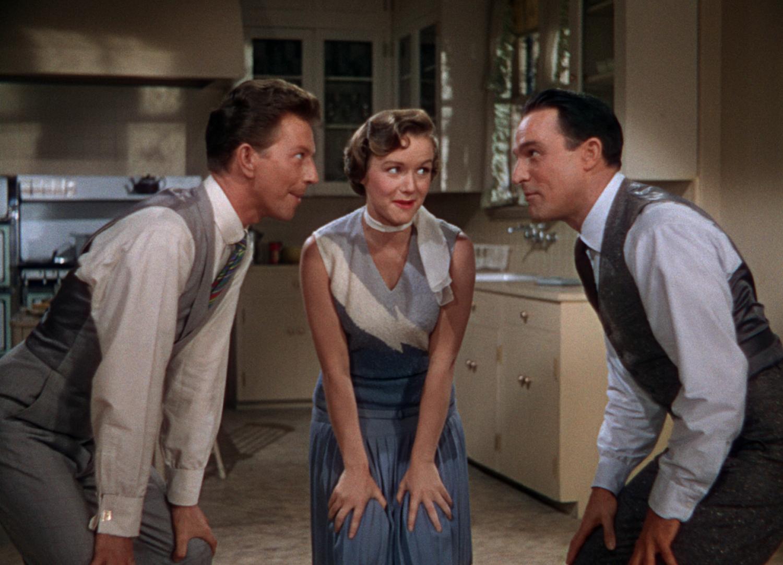 (From left) Donald O'Connor, Debbie Reynolds, Gene Kelly