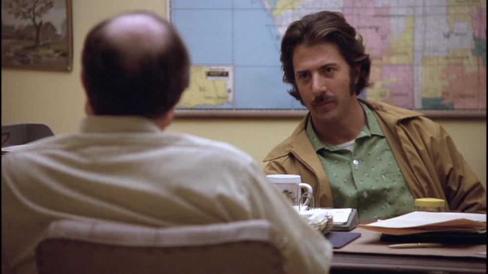 (From left) M. Emmet Walsh, Dustin Hoffman