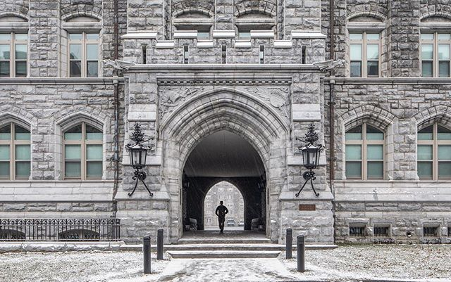 Images of the barracks on a peaceful  snowy day.  #westpoint #pershing #architecturephotography  #architecture