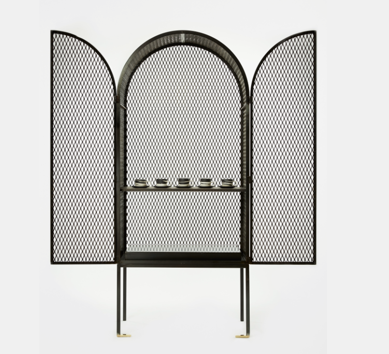CABINET MADE OUT OF EXTRUDED METAL MESH