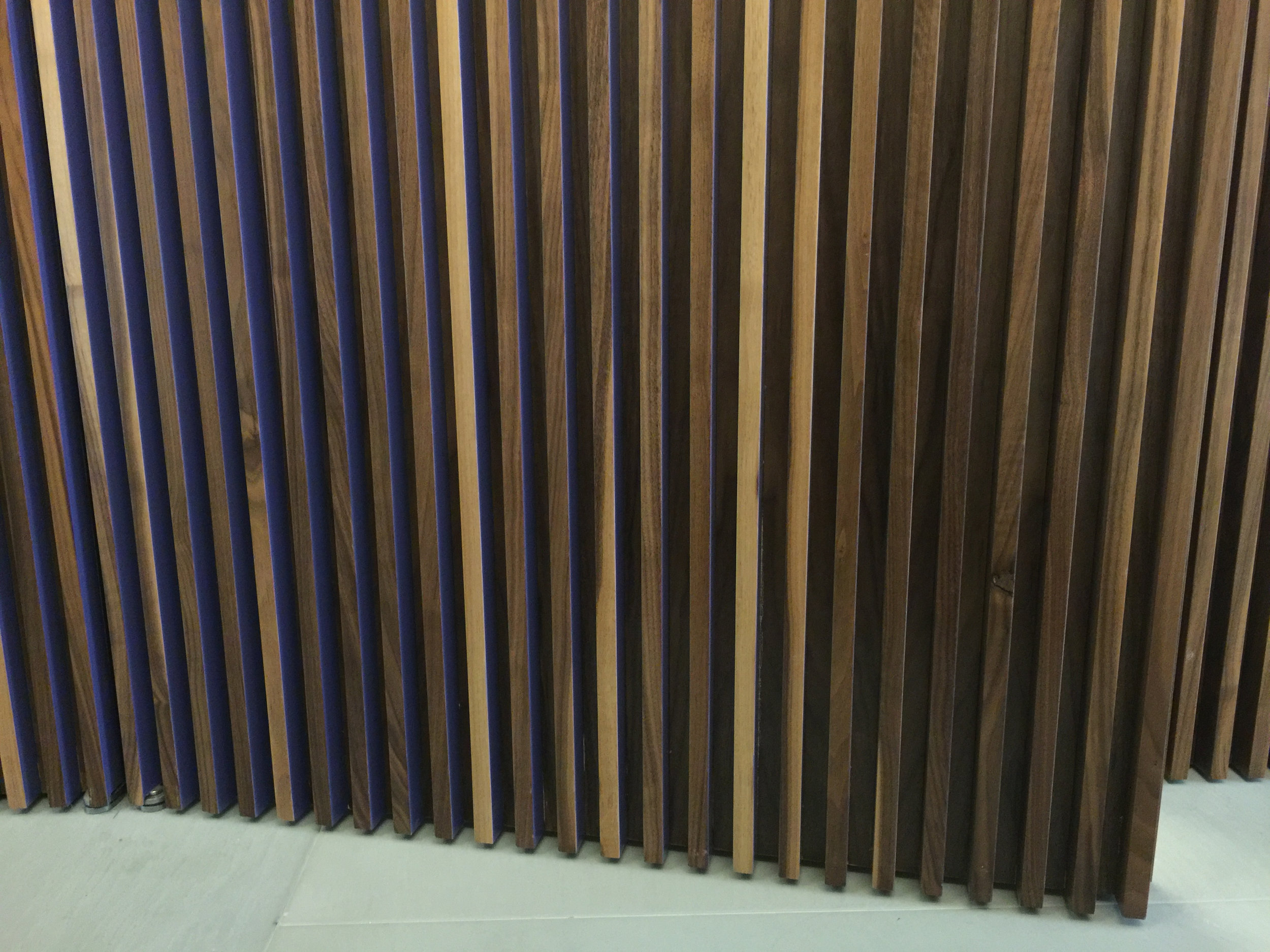 PARTIALLY PAINTED WOOD LOUVER