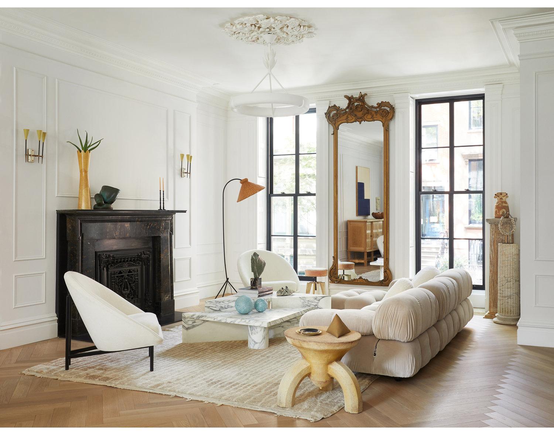 Another example of white oak herringbone floors. -