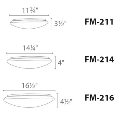 Sizes available for light fixture above -