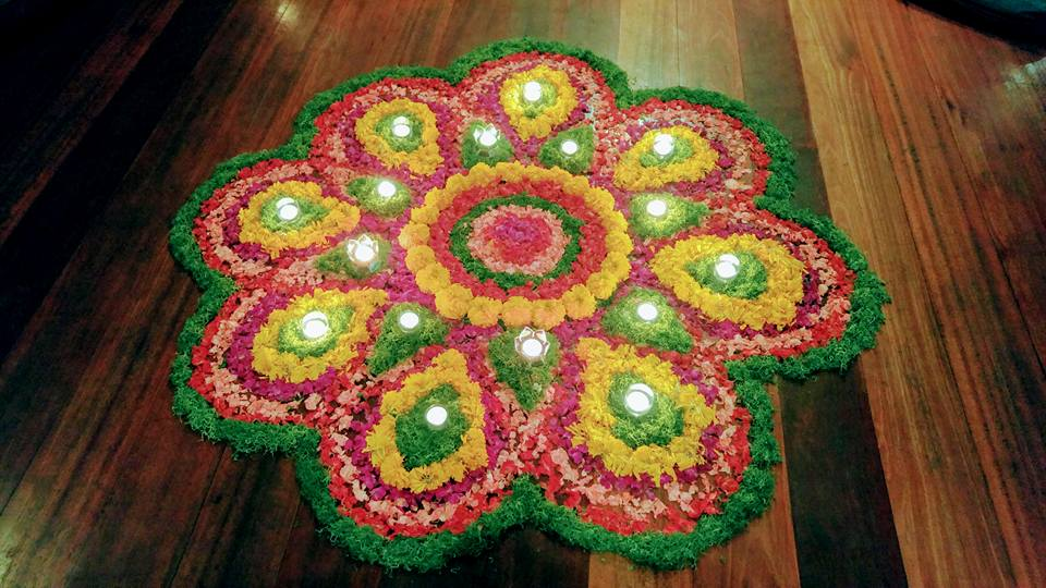 Flower mandala made by the staff of Naya.