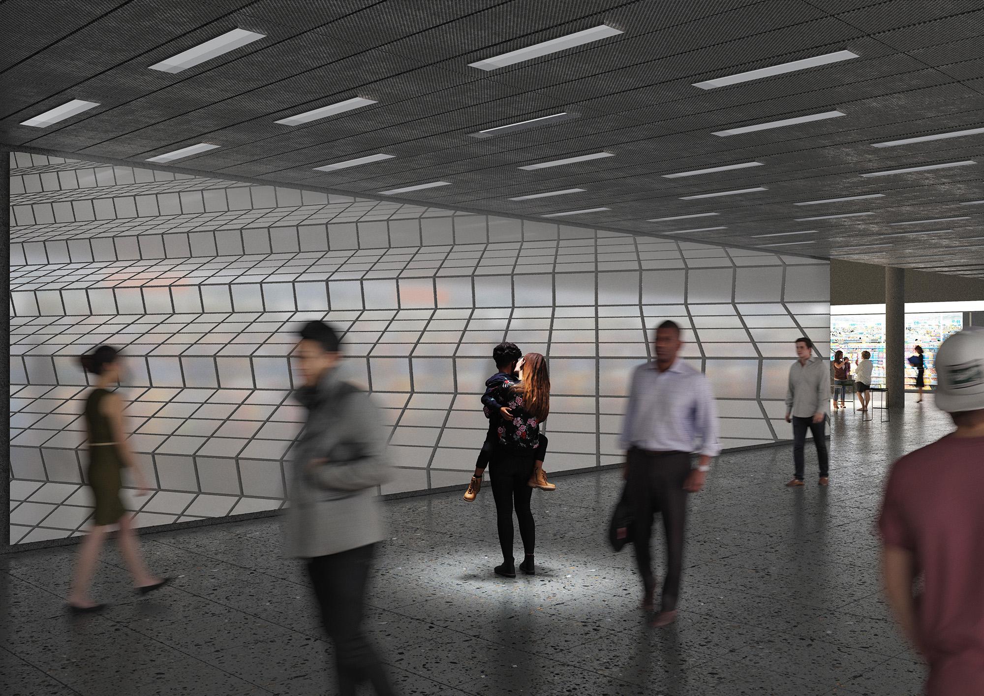 Kunst und Bau, Bahnhofpassage Baden