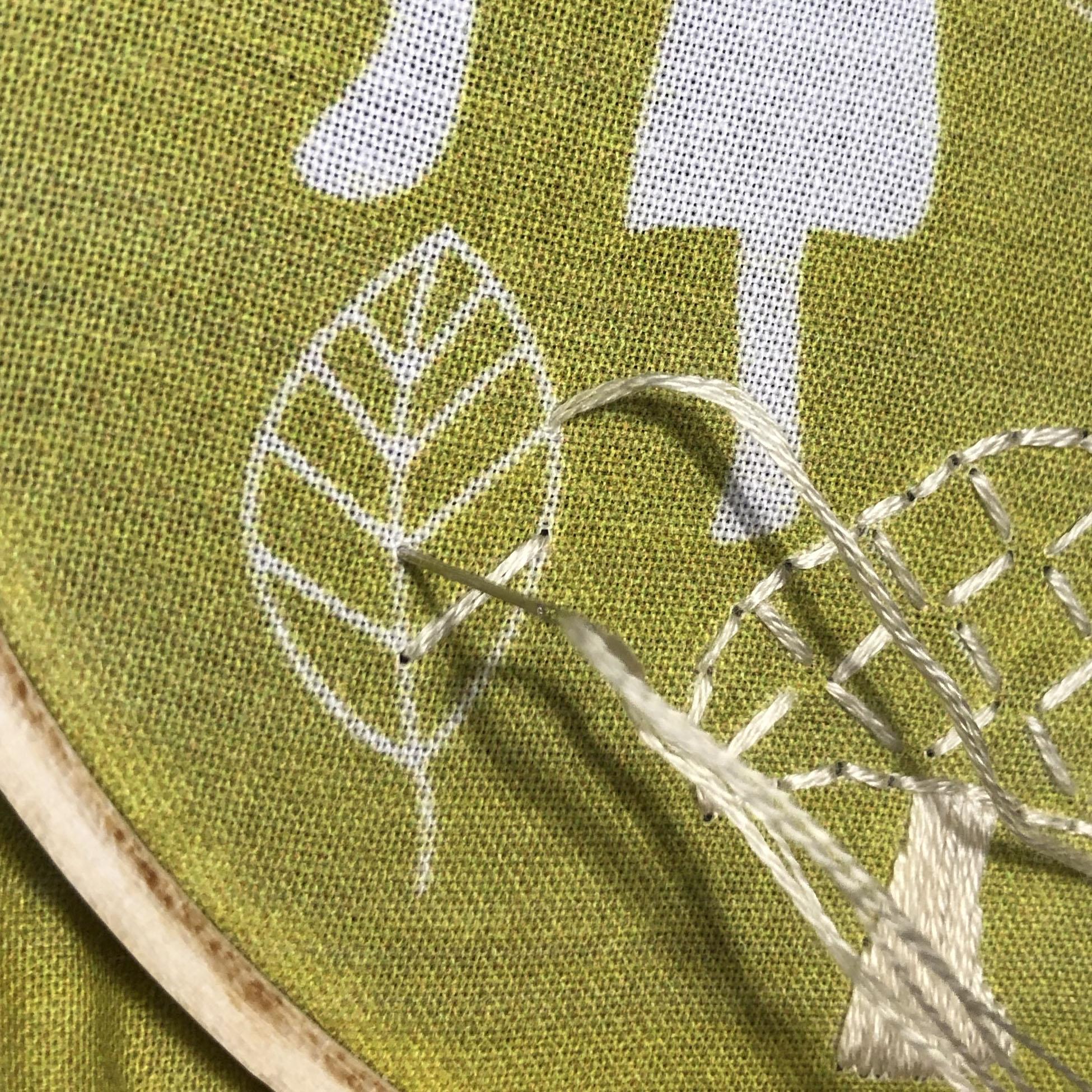 Single stitch for veins