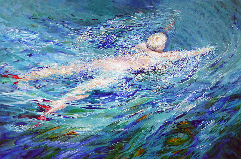 summer swim 2013 acrylic 24x18