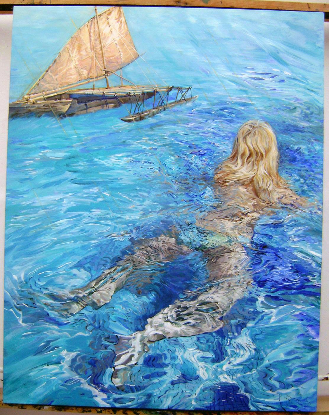 warm swim 2012 acrylic 44x56