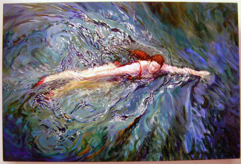swimmer 2012 acrylic 24x18