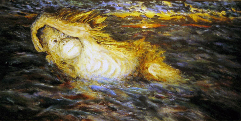 dawn at sea 1995 oil 30x48